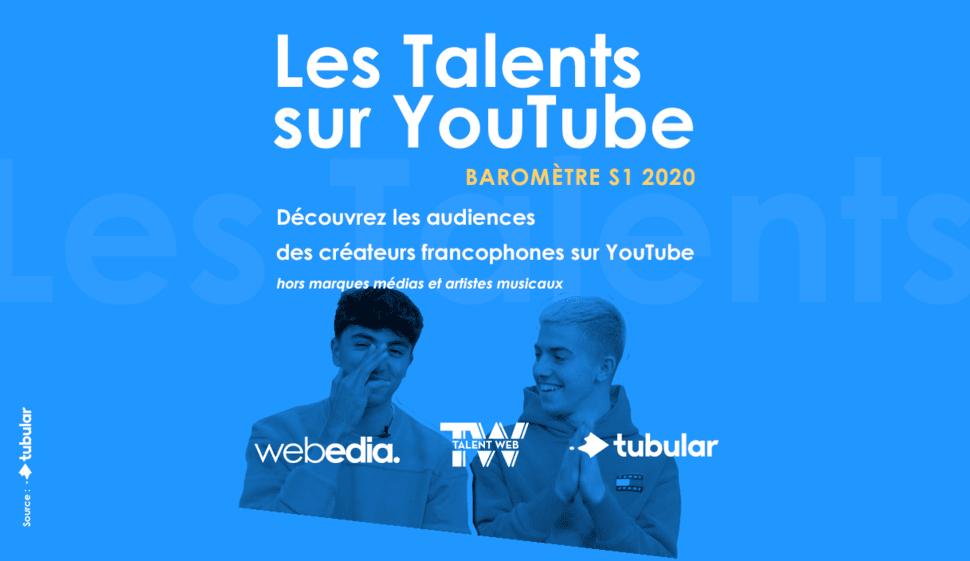 État des lieux des influenceurs francophones sur YouTube © DR