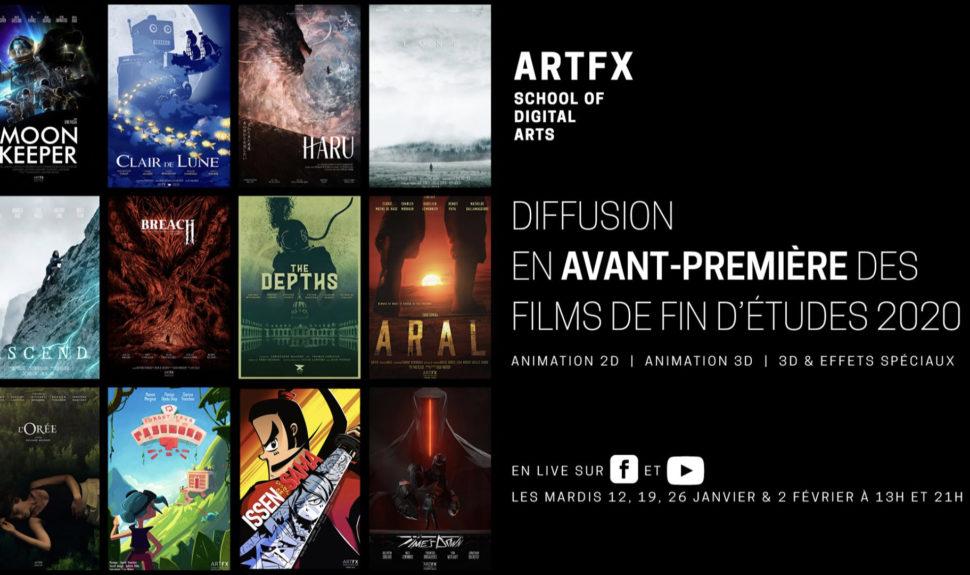 ArtFX met à disposition les films de fin d'études de la promo 2020 © DR