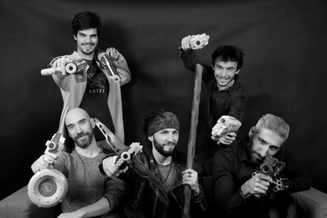 De haut en bas et de gauche à droite : Nils Lemonnier, François Brugalières, Jonathan Bacheter, Valentin Soulard et Yan Weitlauff © ARTFX