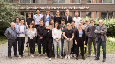 La promotion 2020, Mohammeg Elliq, Côme Jean-Joseph (Fondation Culture & Diversité), Mehdo Aït-Kacimi © ENS Louis-Lumière
