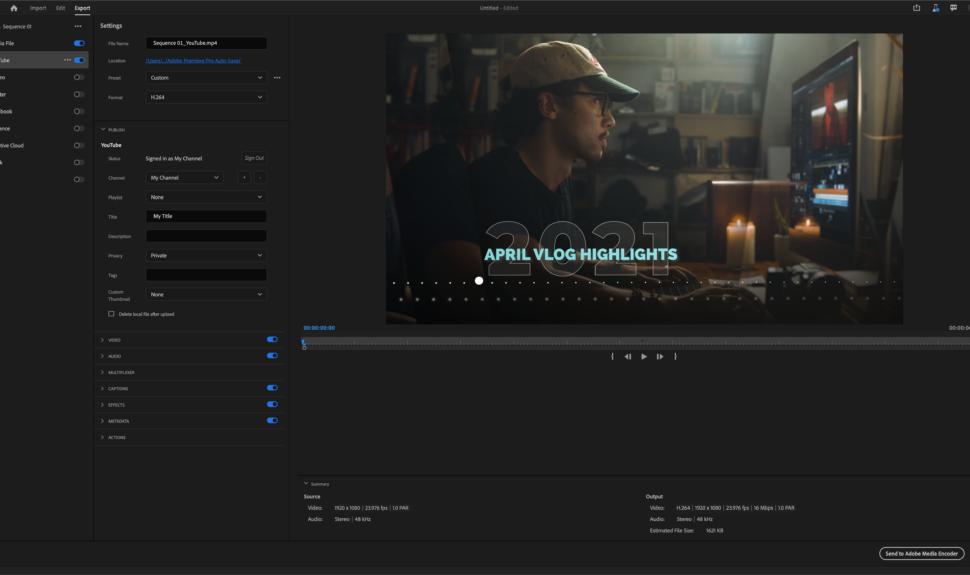 Premiere Pro Beta, un nouveau workflow pour l'export
