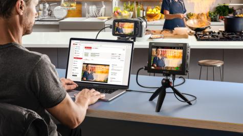 Les connexions USB prennent désormais en charge la webcam pour une utilisation avec un logiciel de streaming ou une plateforme © DR