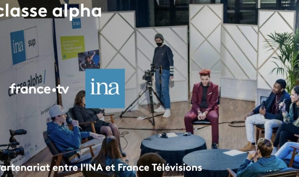 Insertion professionnelle : France Télévisions rejoint l'INA pour développer classe Alpha © DR